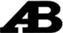 logo ab bianco